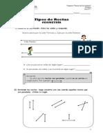 Guía Nº 1 Geom. (Rectas Paralelas, Perpendiculares y Secantes) 4º Básico