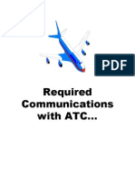 Required Communications with ATC
