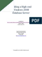 Building a High-End Windows 2008 Database Server