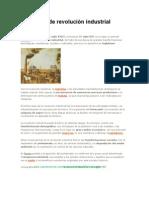 Definición de Revolución Industrial