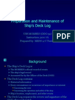 preparation and maintenance of ships deck log