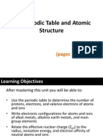 Periodic Table and Atomic Structure
