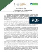 Carta de Brasília - Fórum Brasil de Comunicação Pública 2014