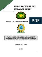 Plan Curricular 2013 Carrera Profesional Ing. Quimica