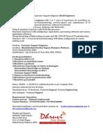 Job Description - Field Support Eng.