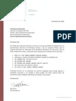 Carta Representacion de Pro Energy