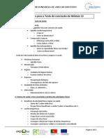 Orientações Para o Estudo Para Prova de Conclusão de Módulo 13
