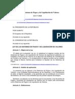 Ley-29440 Liquidacion de Pagos y Titulos Valores