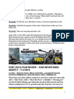 Fury Film Review - War Never Ends Quietly - FuTurXTV & HBMedia.com - Hiphobattle - 11-2-2014