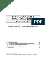 SE27- Función Docente y Form p La Innov Tejada Fdez ..