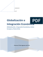 Globalizacion e integración económica