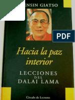 Hacia La Paz Interior Dalai Lama