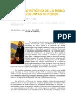 Martin Heidegger - El Eterno Retorno de Lo Mismo y La Voluntad Del Poder