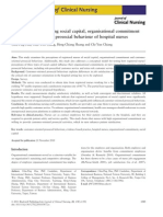 the relationships among social capital organisational commitment