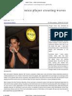 Aki Kumar - Indian Harmonica Player Creating Waves Globally (Assam Times)