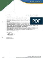 09 05 26 Endsleigh Ts&Cs & Letter