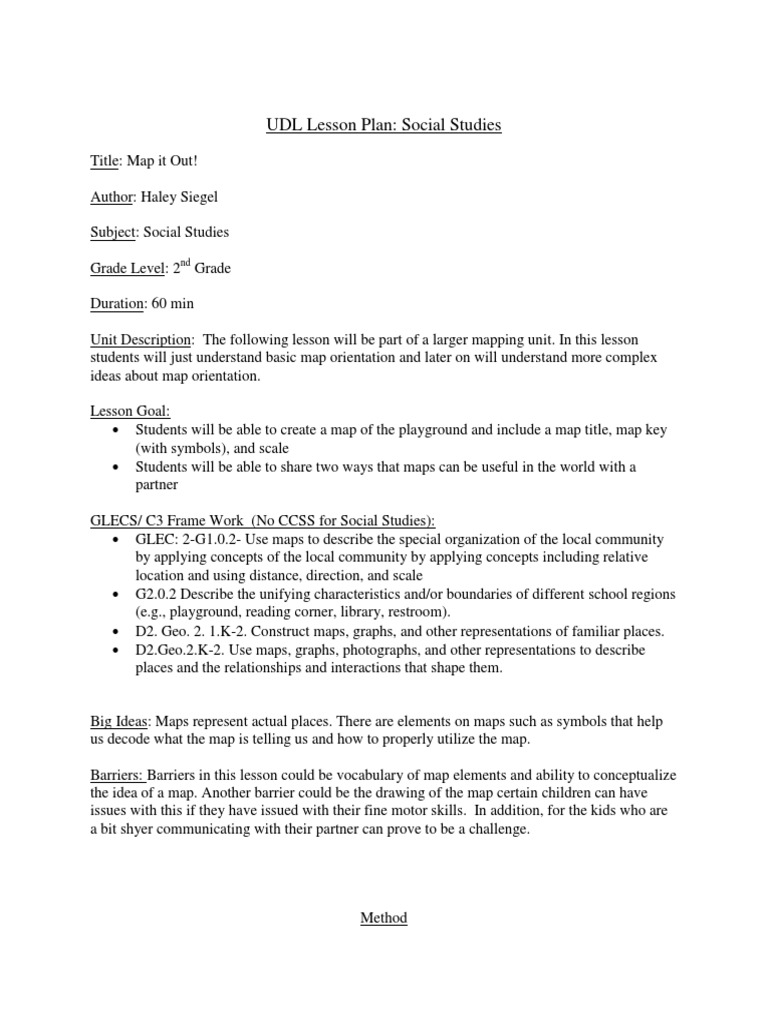 Lab 10 Assingment Lesson Plan Map Classroom
