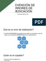 Prevención de Errores de Medicación