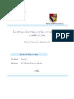 La Firma Electronica y Las Entidades de Certificacion 0