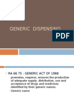 Generic Dispensing