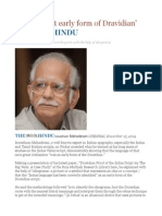'Indus Script Early Form of Dravidian'