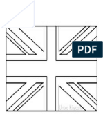 White Union Jack, Bandera en blanco y negro para colorear.