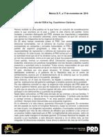 Consejo Nacional PRD definirá cambio dirigencia, responde Navarrete
