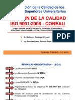 Gestión Calidad ISO 9001 2008 CONEAU