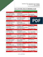 CALENDARIO LIGA JUVENIL 2014-15