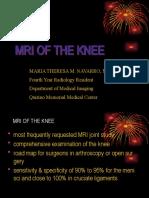 Mri of the Knee and Common Pathologies