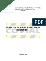 Especificaciones Especiales COVIAL Edicion 2014