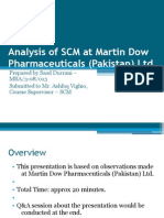 Analysis of SCM at Martin Dow Pharmaceuticals (Pakistan) Ltd.