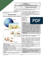 Listas de Ecologia-Lista 10 - Níveis de Organização Em Ecologia