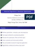 Advanced Algorithms in Nonlinear Optimization