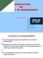 Presentation on Concept of Management