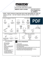 Mazda Remote Starter Install