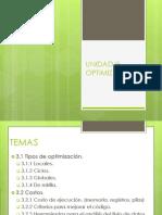 Unidad III Optimizacion