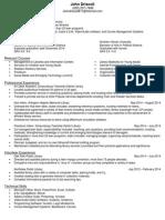 resume - john e driscoll 11-5-14