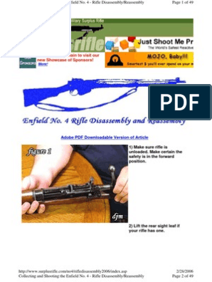 Enfield No4 Disassembly | Magazine (Firearms) | Rifle