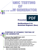 Dynamic Testing of 210 Mw Generator