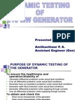 Dynamic Testing of 210 Mw Generator