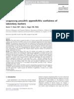Diagnosing Pediatric Appendicitis Usefulness Of