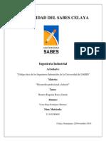 Codigo Etico de Los Ingenieros Industriales Universidad Sabes Celaya Rodriguez Martinez Victor Hugo