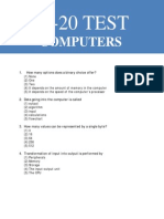 Additional MCQs on Computers