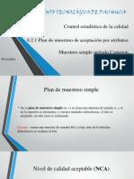 Plan de Muestreo Por Atributos Metodo Cameron