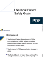 Patient Safety National 2014