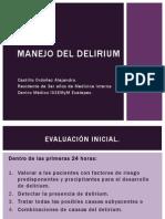 Manejo Del Delirium