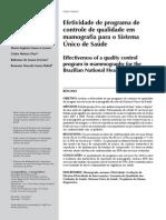 Efetividade Do Programa de Qualidade Em Mamografia No Sus
