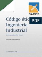 Código de etica Ingeniero Industrial