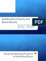 Building Brand Equity and Brand Identity